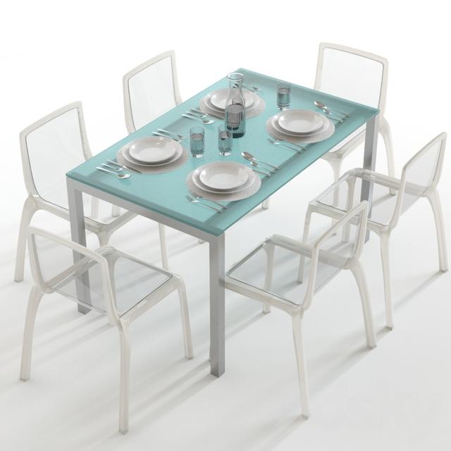 مدل سه بعدی میز ناهار خوری