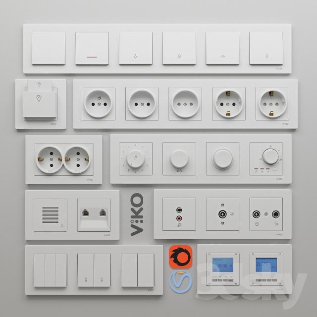مدل سه بعدی پریز برق