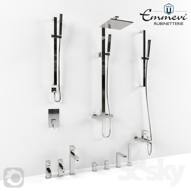مدل سه بعدی شیرآلات حمام و سرویس بهداشتی