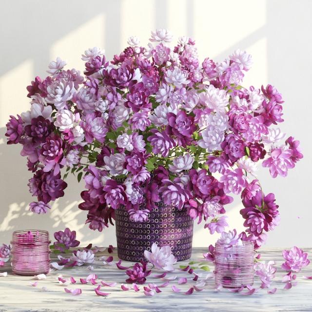 آبجکت گل و گلدان