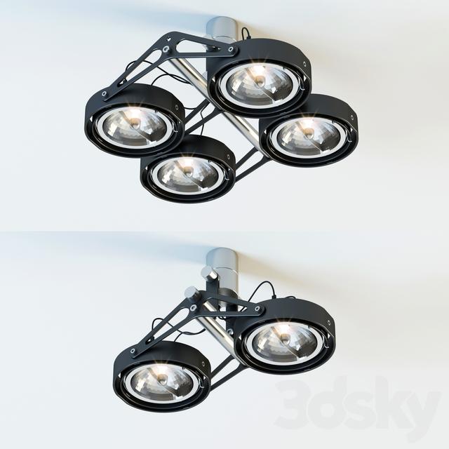 مدل سه بعدی لامپ سقفی