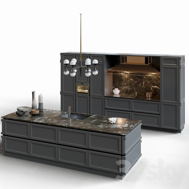 مدل سه بعدی کابینت مدرن