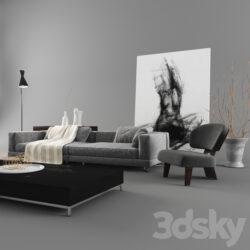 دانلود 55 آبجکت مبل مدرن از Pro 3DSky – کالکشن 10