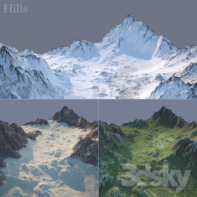 مدل سه بعدی کوه