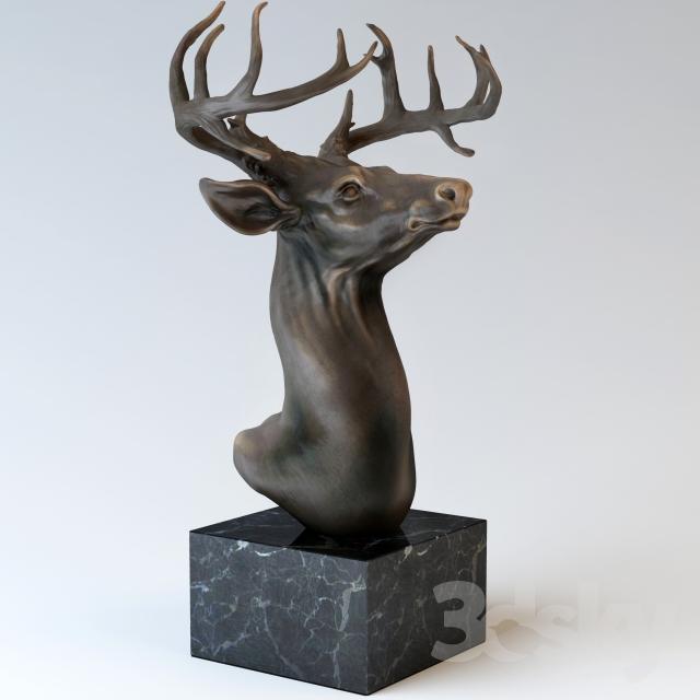 مدل سه بعدی مجسمه و تندیس تزیینی