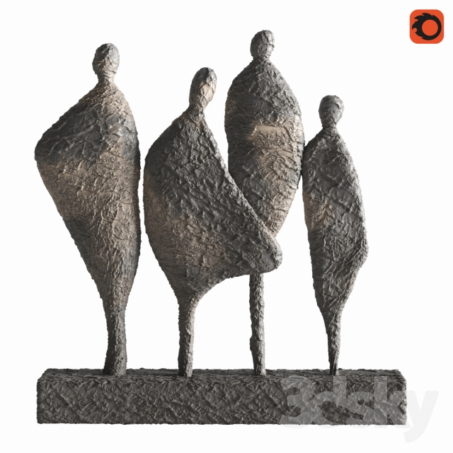 مدل سه بعدی مجسمه