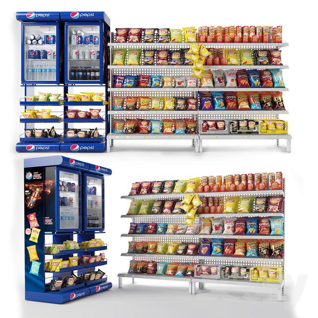 مدل سه بعدی تجهیزات فروشگاه