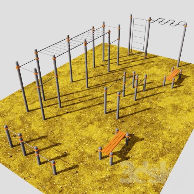 مدل سه بعدی لوازم ورزشی