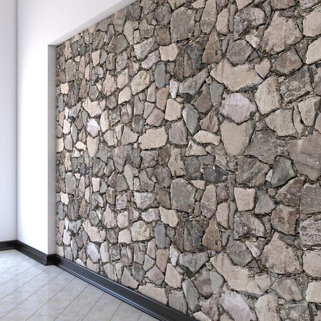 مدل سه بعدی دیواری سنگی