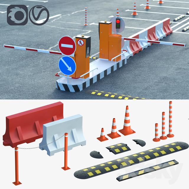 مدل سه بعدی تجهیزات خیابان
