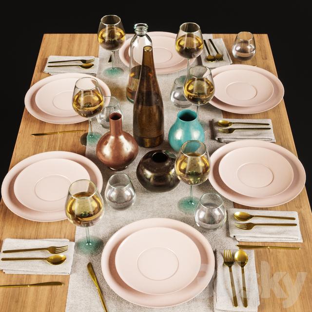 مدل سه بعدی میز غذا