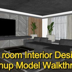 آموزش طراحی اتاق نشیمن در اسکچاپ