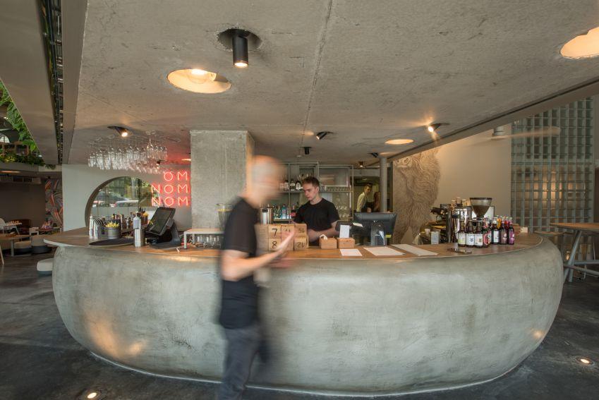 سبک صنعتی در کافه وگان