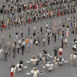 دانلود مدل سه بعدی جمعیت مردم