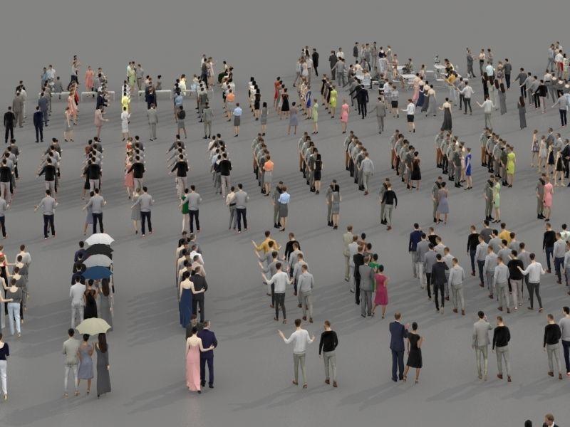 مدل سه بعدی انسان