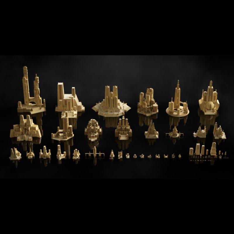 مدل سه بعدی بناهای باستانی