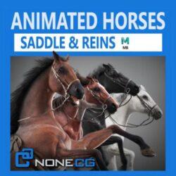 دانلود مدل سه بعدی اسب انیمیت شده