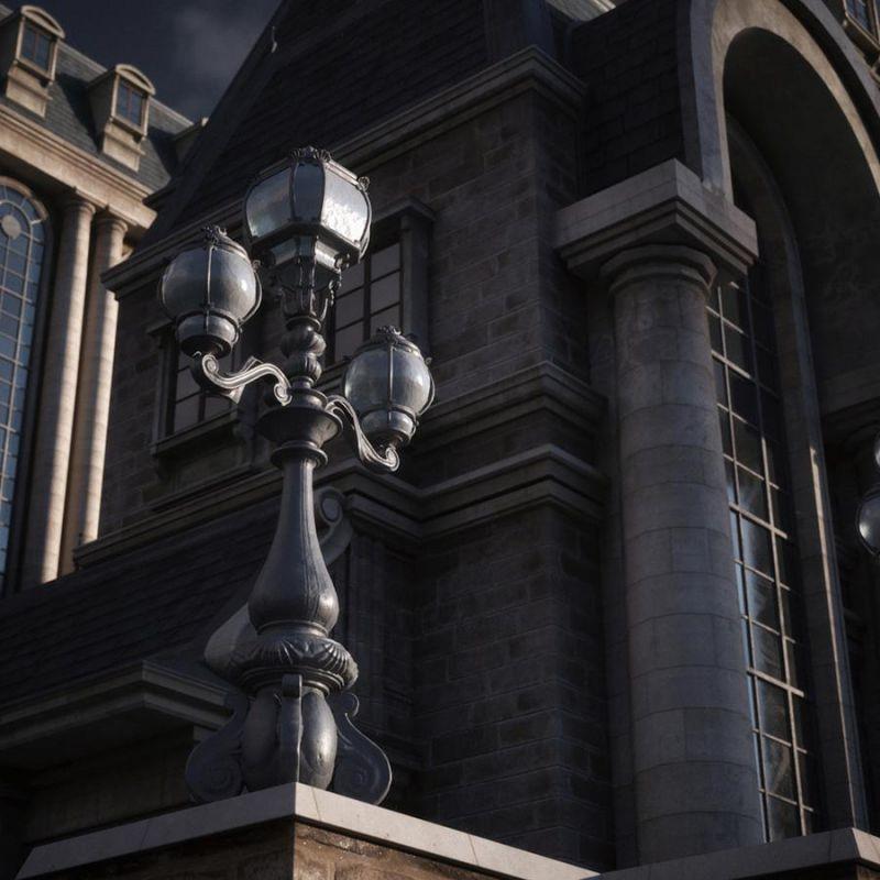 مدل سه بعدی ساختمان Art Nouveau