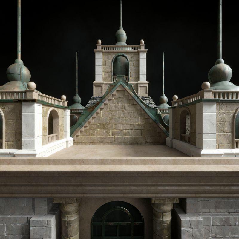 مدل سه بعدی ساختمان نئوکلاسیک