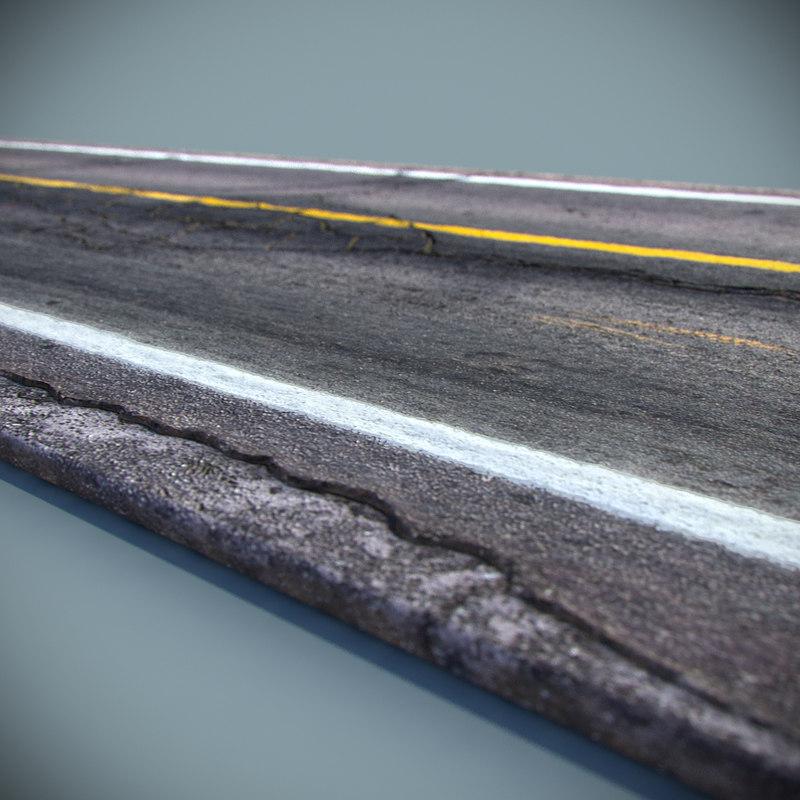 مدل سه بعدی جاده با جزییات بالا