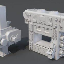 دانلود مدل سه بعدی قطعات کارخانه