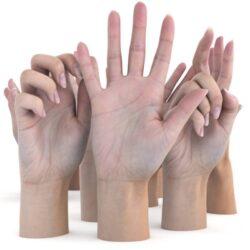 دانلود مدل سه بعدی دست زنانه