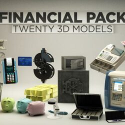دانلود مدل سه بعدی مالی برای Cinema 4D