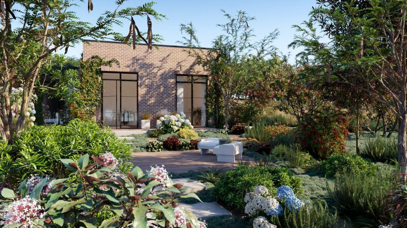 آبجکت گل و گیاه باغ