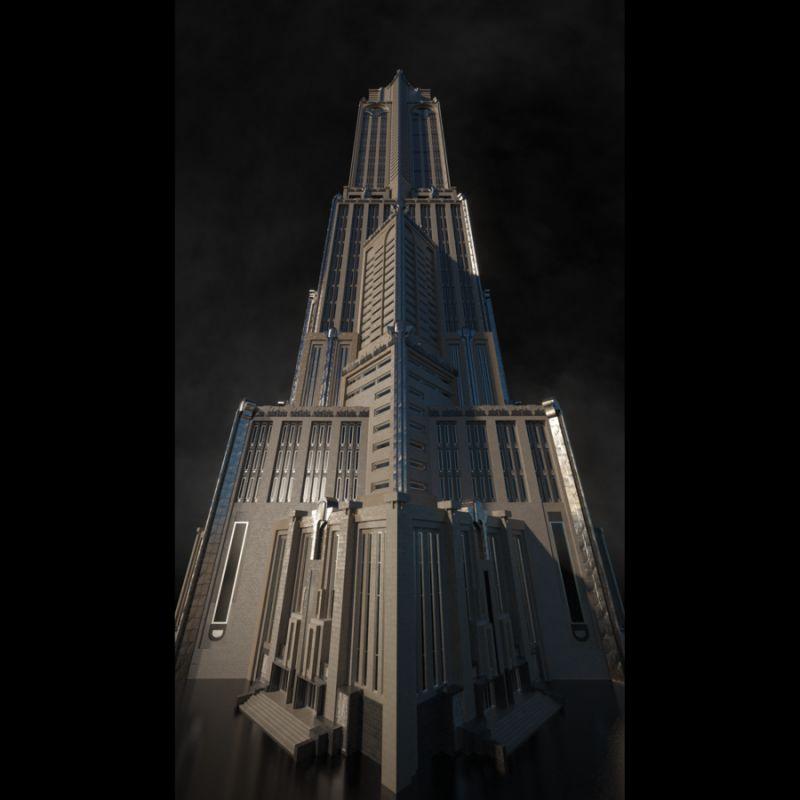 مدل سه بعدی برج و ساختمان