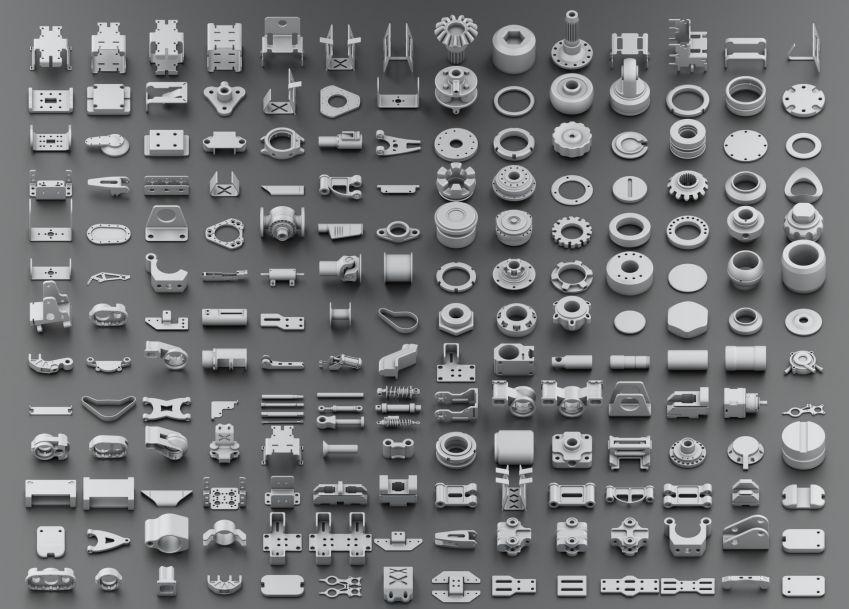 مدل سه بعدی اجزای سطوح سخت
