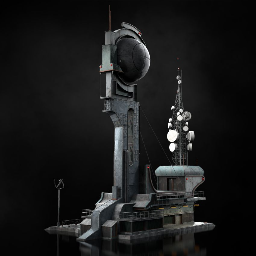 مدل سه بعدی سازه های علمی تخیلی