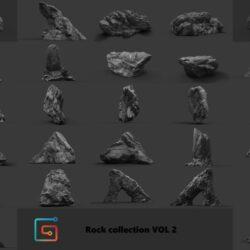 دانلود مدل سه بعدی سنگ های جنگل