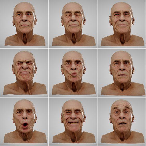 مدل سه بعدی کاراکتر پیرمرد
