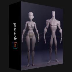 دانلود مدل سه بعدی کاراکتر مرد و زن