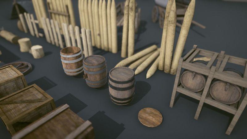 مدل سه بعدی لوازم قرون وسطایی