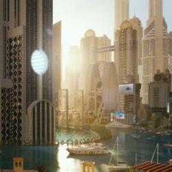 دانلود مدل سه بعدی شهر دبی