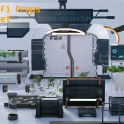 دانلود مدل سه بعدی محیط علمی تخیلی