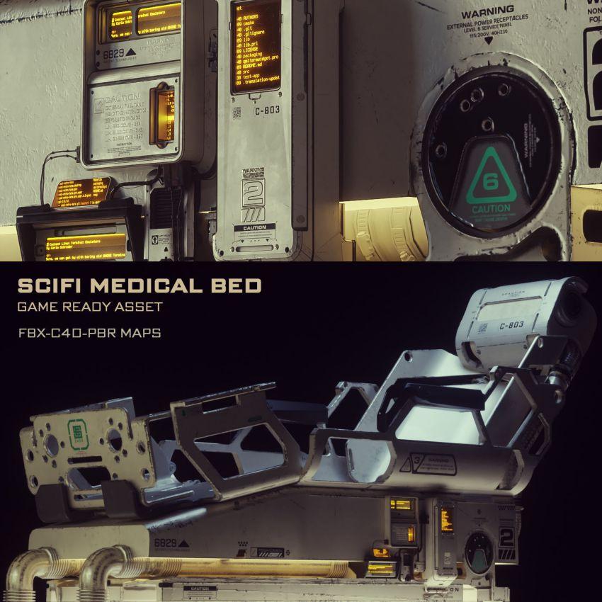 مدل سه بعدی تخت پزشکی علمی تخیلی
