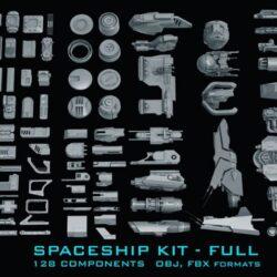دانلود مدل سه بعدی اجزای ساخت فضاپیما