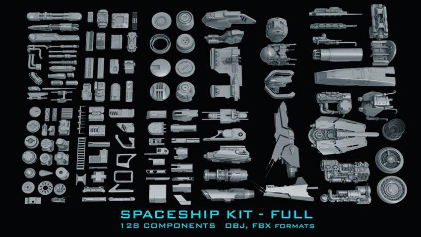 مدل سه بعدی اجزای ساخت فضاپیما