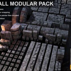 دانلود مدل سه بعدی دیوار سنگی
