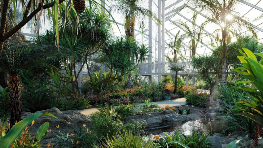 مدل سه بعدی باغ گرمسیری