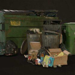 دانلود مدل سه بعدی سطل آشغال شهری